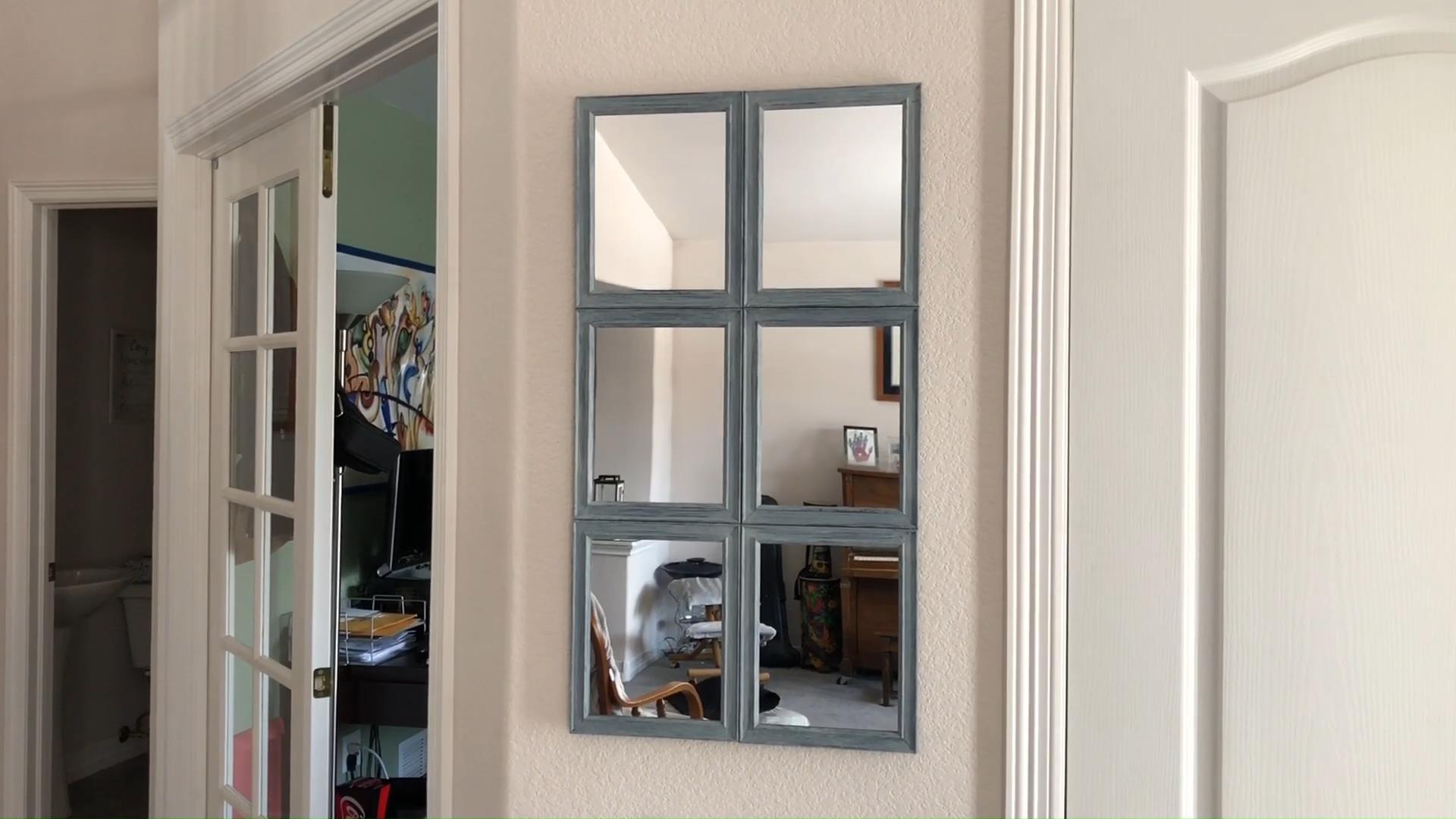 DIY Easy Farmhouse Pottery Barn Mirror