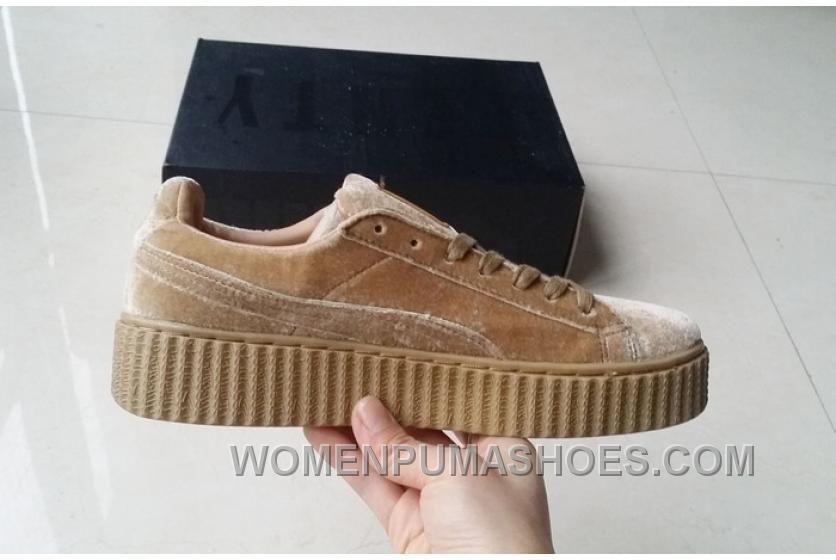 size 40 factory authentic latest Puma By Rihanna Suede Creepers 36-44 Khaki Velvet Copuon ...