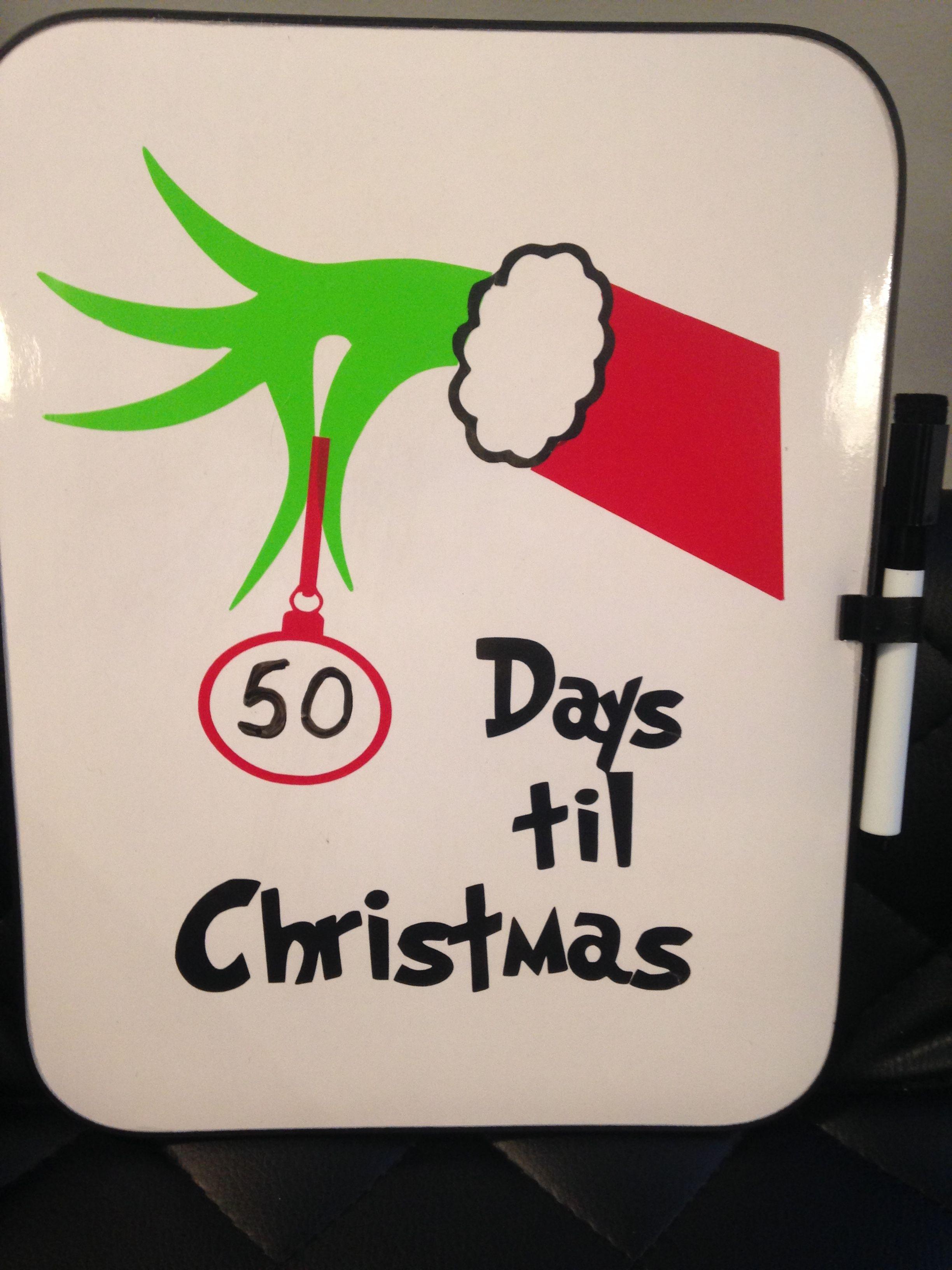 Countdown Till Christmas.Countdown Till Christmas Whiteboard Cricut Cricut