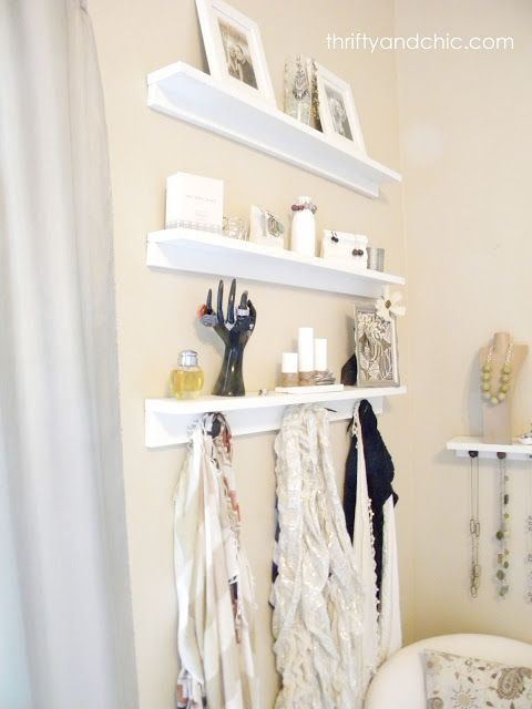 Jewelry Organizer Shelves Diy jewelry holder Jewellery holder and
