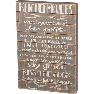 Gracie Oaks Kitchen Rules: Wash Your Hands Wall Décor | Wayfair.ca #kitchenrules