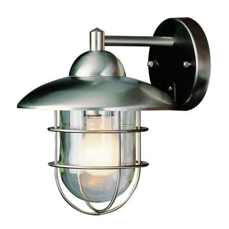 Bel Air Lighting Cb 4370 St 8 Inch Stainless Steel Lantern Fixture Gray Outdoor Wall Mounted Lighting Outdoor Wall Lantern Outdoor Sconces
