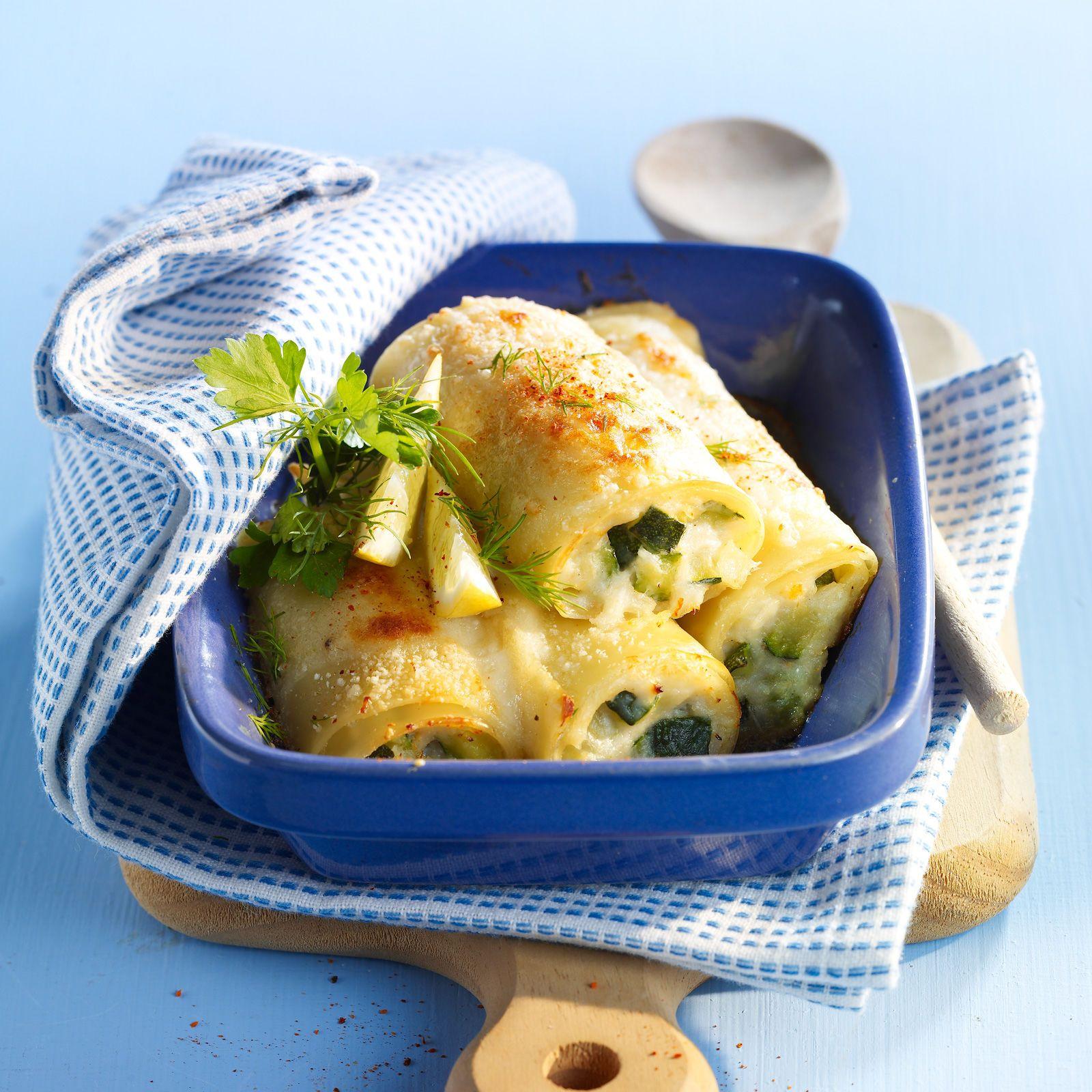 Cannellonis crabe et courgette   Recette   Lasagnes ...
