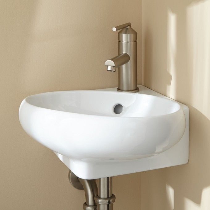 Isolde Corner Wall Mount Bathroom Sink 10 Inches On Wall Wall Mounted Bathroom Sinks Corner Sink Bathroom Sink