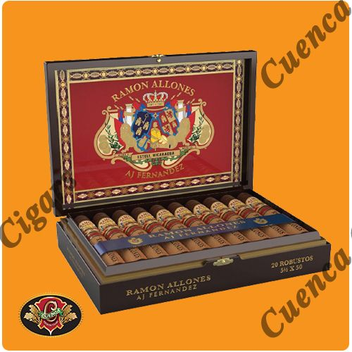 Ramon Allones by AJ Fernandez Toro Cigars - Dark Box of 20 - Best Online prices Ramon Allones by AJ Fernandez Toro Cigars - Dark Box of 20 at Cuenca Cigars. Shop A.J. Fernandez Cigars receive FREE SHIPPING on orders over $199. Latest addition to the acclaimed A.J. Fernandez Cigars line. Using a Medio-Tiempo Habano Oscuro as wrapper, full Toro with size o..Price: $231.50