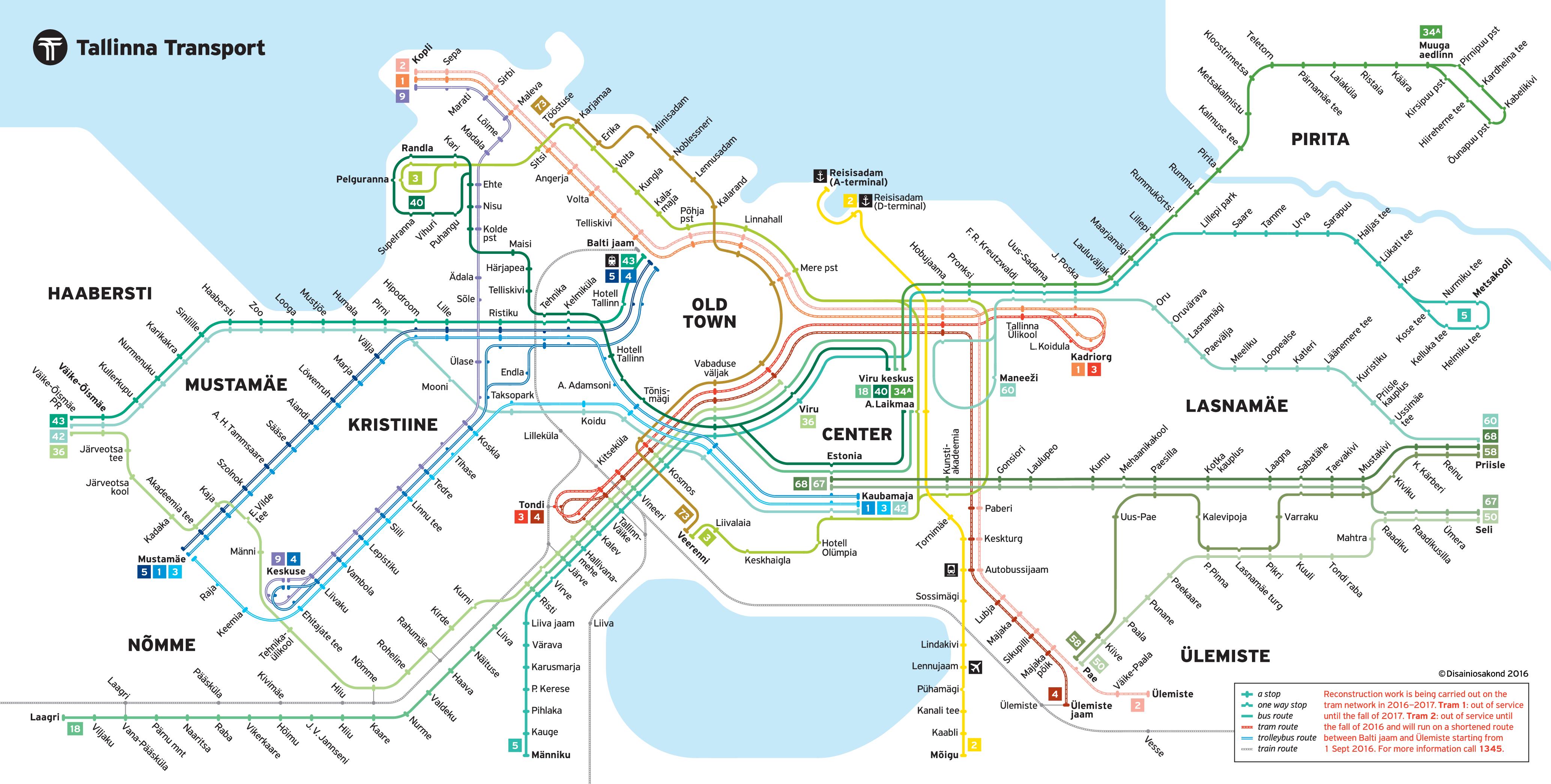 aa3cb8808c2 Public transportation in Tallinn, Estonia by Tallinna transport #map # tallinn #estonia