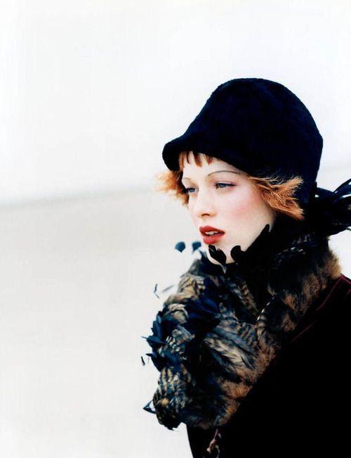 "Vogue US November 1997 ""Bohemian Rhapsody"" Model: Karen Elson Photographer: Ellen von Unwerth Stylist: Grace Coddington http://supermodelobsession.tumblr.com"
