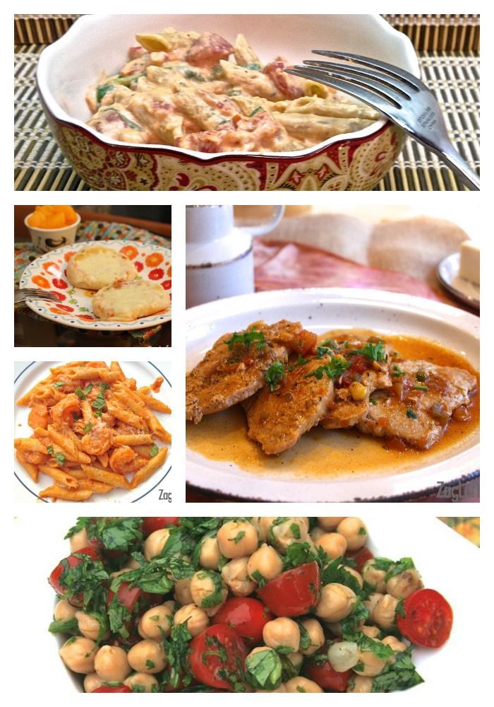 College meals - braised pork and pasta week - zagleft images
