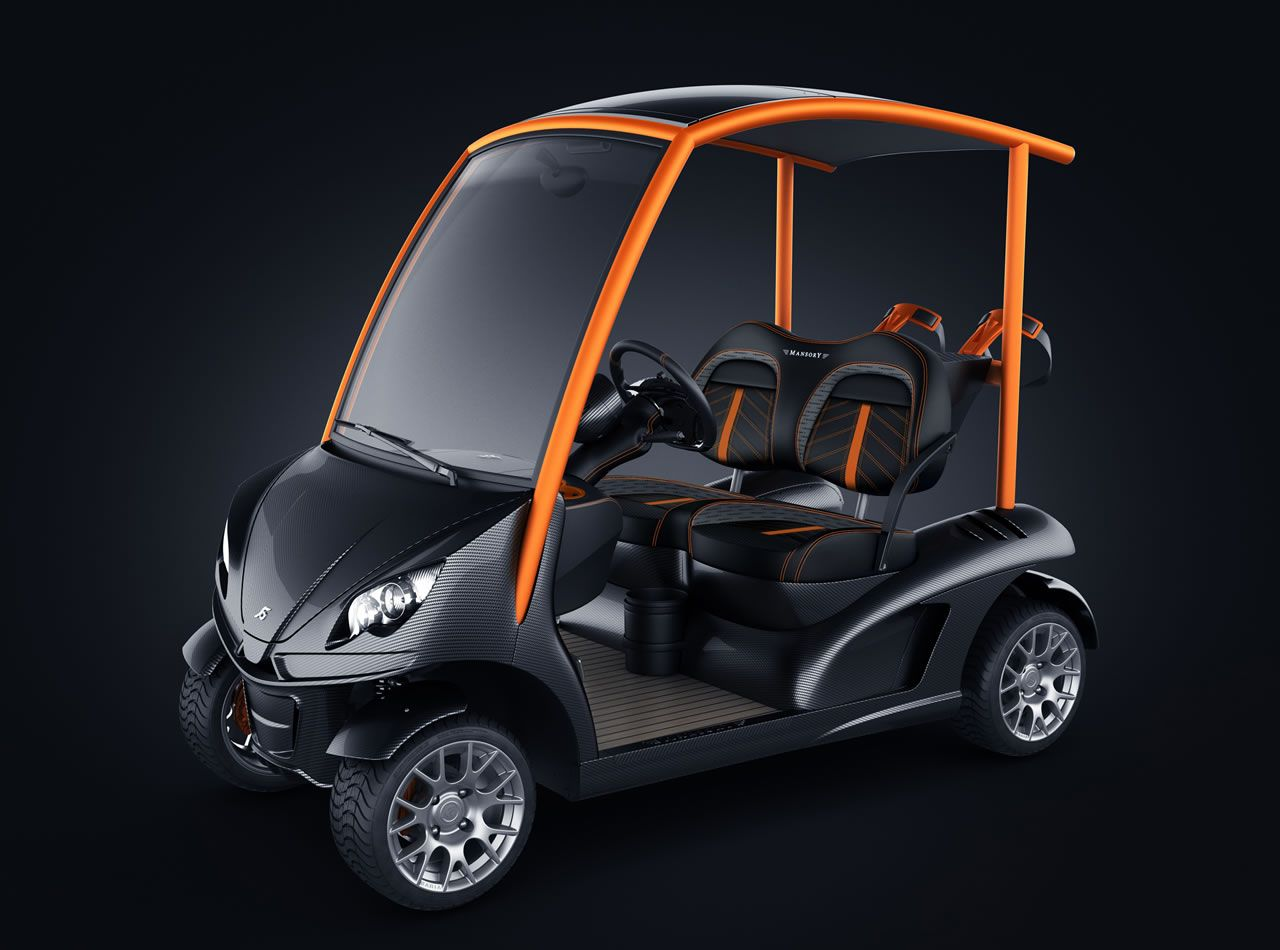 Garia Mansory Edition Carbon Fiber Golf Car ゴルフカート ゴルフ プロダクトデザイン