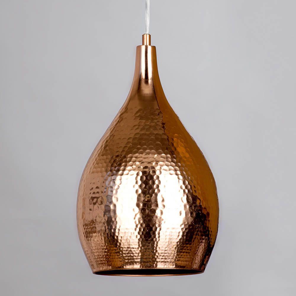 Teardrop shape shade ceiling pendant