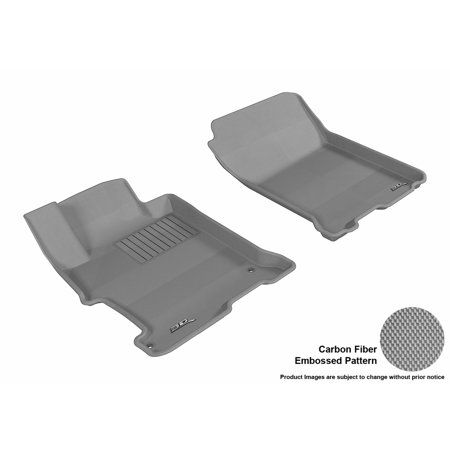 Gray 3D MAXpider Second Row Custom Fit All-Weather Floor Mat for Select Dodge Ram 1500 Models Kagu Rubber