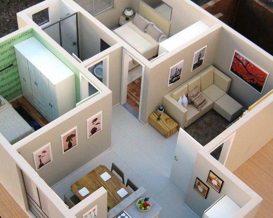 Best Flat Floor Plan Interior 2d 3d Small House Design Small House Design Plans Small House Interior Design