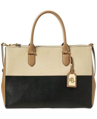 16ff462b85 Lauren Ralph Lauren Newbury Double Zip Large Satchel - Handbags    Accessories - Macy s