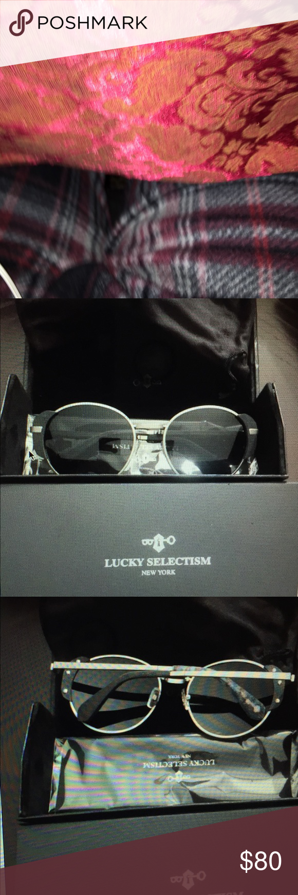 e38b753ef87 Lucky selectism folding round sunglasses Lucky selectism folding round  sunglasses. Never worn before. Still has the plastic on the arm. rayban  Accessories ...