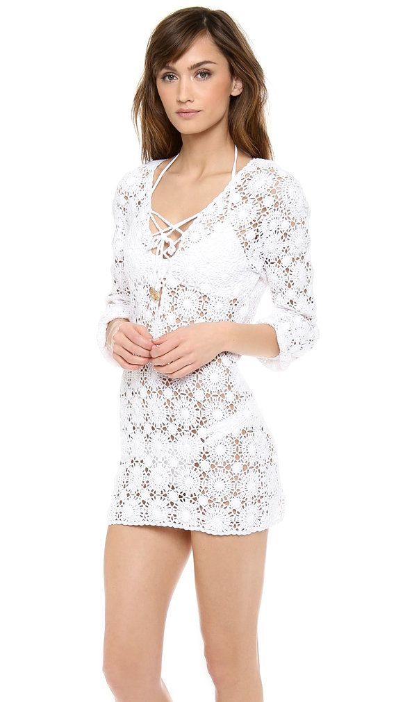 Crochet lace tunic PATTERN, detailed tutorial for every row, trendy ...