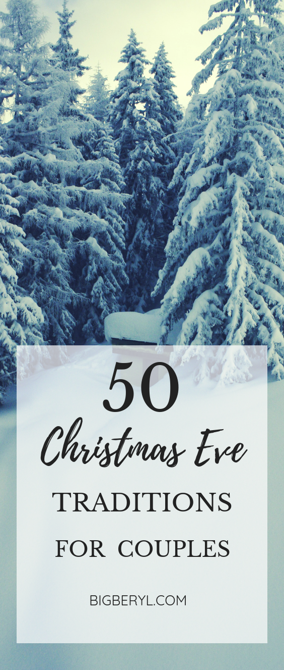 50 + Christmas Traditions for couples to follow before or after having kids! Christmas Traditions for newly weds and military couples! #couples #christmasphotograpgy #couplephotography #coupleshoot #couplegoals #christmasgoals #snow #holidayseason #christmastraditions #christmasideas #relationshipgoals #cutecouples #teencouples