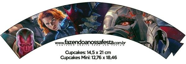 Saias Wrappers para Cupcakes 2 Os Vingadores 2