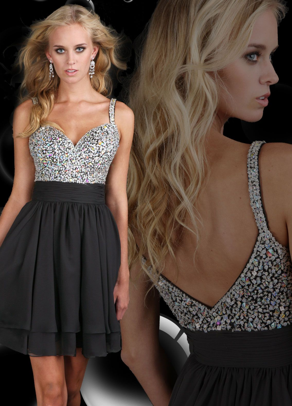 Bedazzled black dress bedazzle me pinterest bodice prom and
