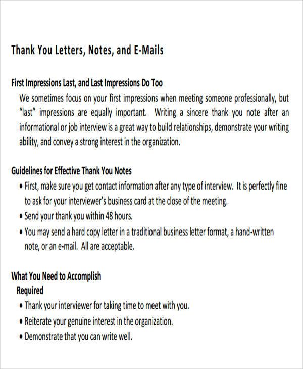 thank you letter format free amp premium templates business meeting - business letters