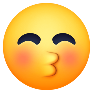 Kissing Face With Closed Eyes Emoji On Facebook 4 0 Closed Eyes Eyes Emoji Emoji Faces
