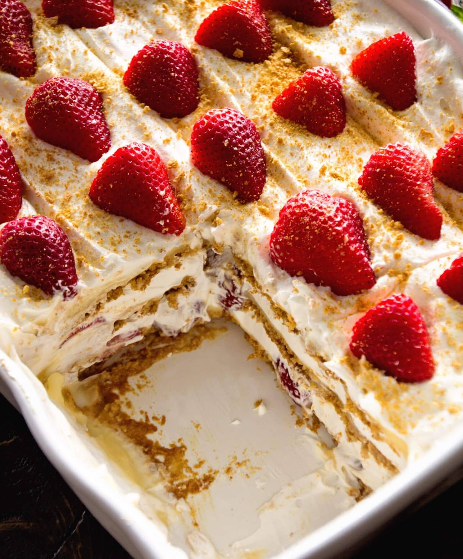 No Bake Strawberry Dessert Recipe: No Bake Graham Cracker Cheesycake