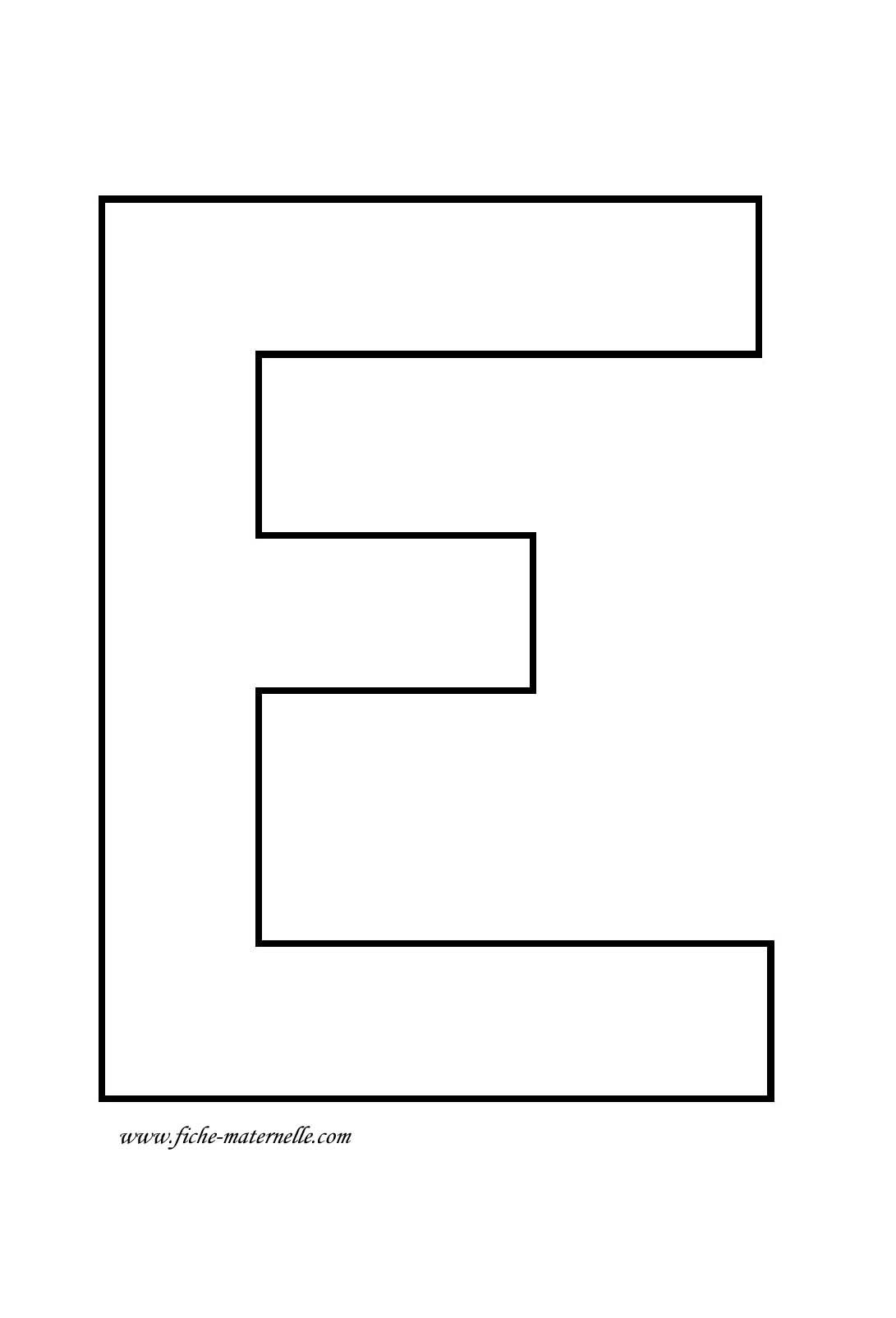 e lettre Lettre de l'alphabet à décorer | patron | Pinterest e lettre