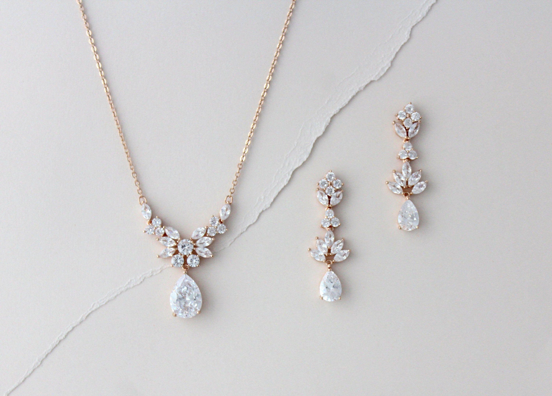 backdrop necklace CZ bracelet CZ jewelry set pearl crystal bridal bracelet bracelet set bridal necklace Wedding jewelry sets