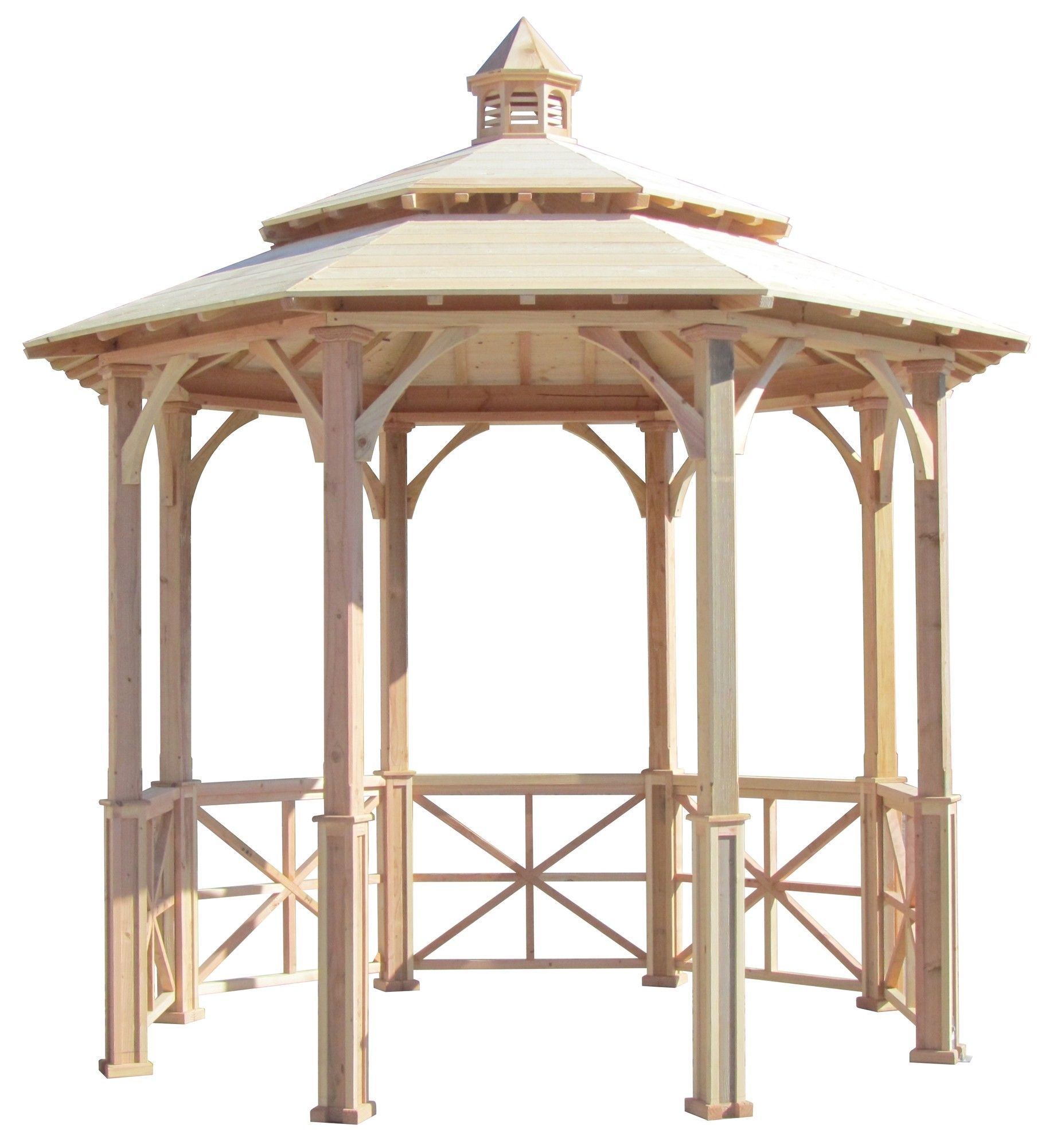 Features: -No more tilting gazebos or unsightly shims! Adjustable