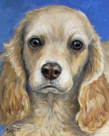 english cocker spaniel  dog 8x10 art print poster watercolor painting