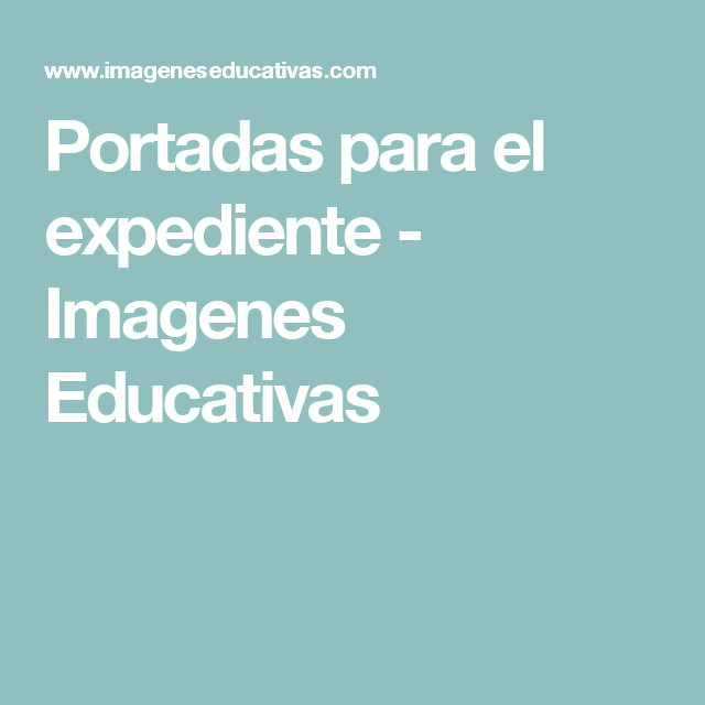 Portadas para el expediente - Imagenes Educativas