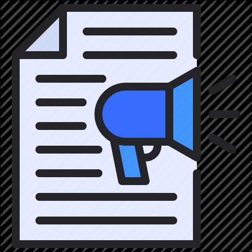 Document File Marketing Megaphone Strategy Icon Download On Iconfinder Icon Marketing Digital Marketing