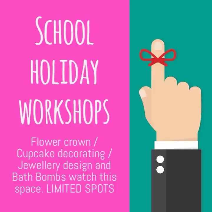 School holidays are just around the corner. We have had a lot of enquires about what we are doing. This is just a sneak peak. Watch this space.....#schoolholidays