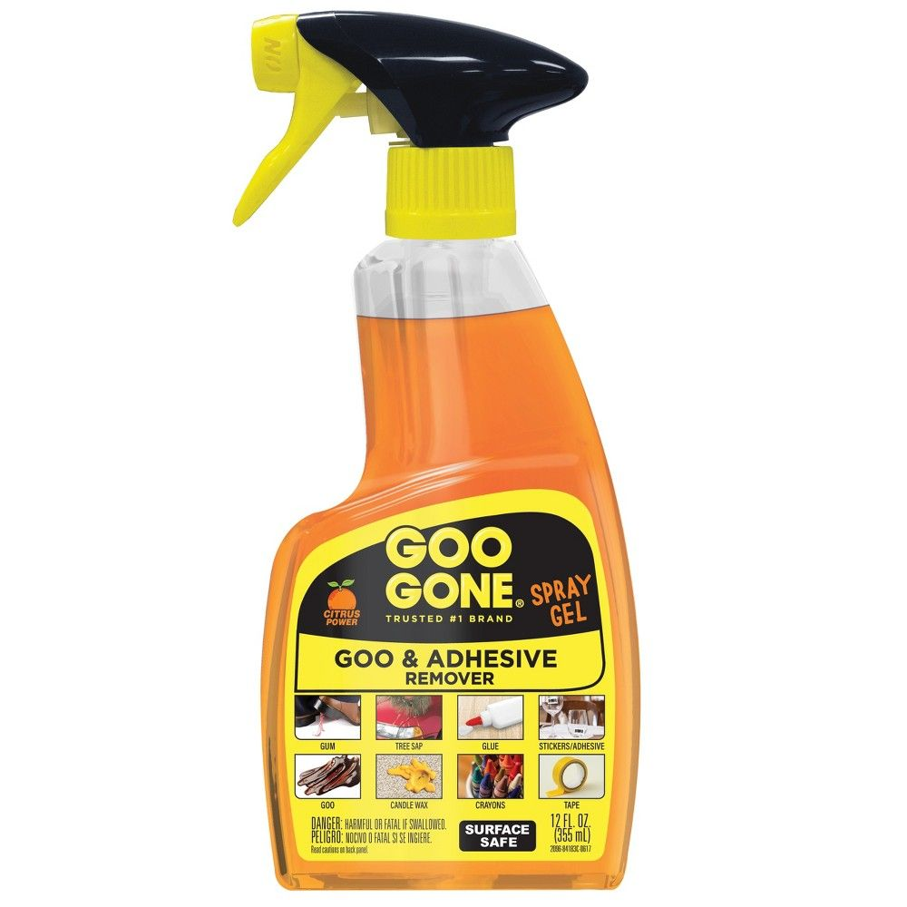 Goo Gone Spray Gel Fresh Citrus 12 oz How to remove