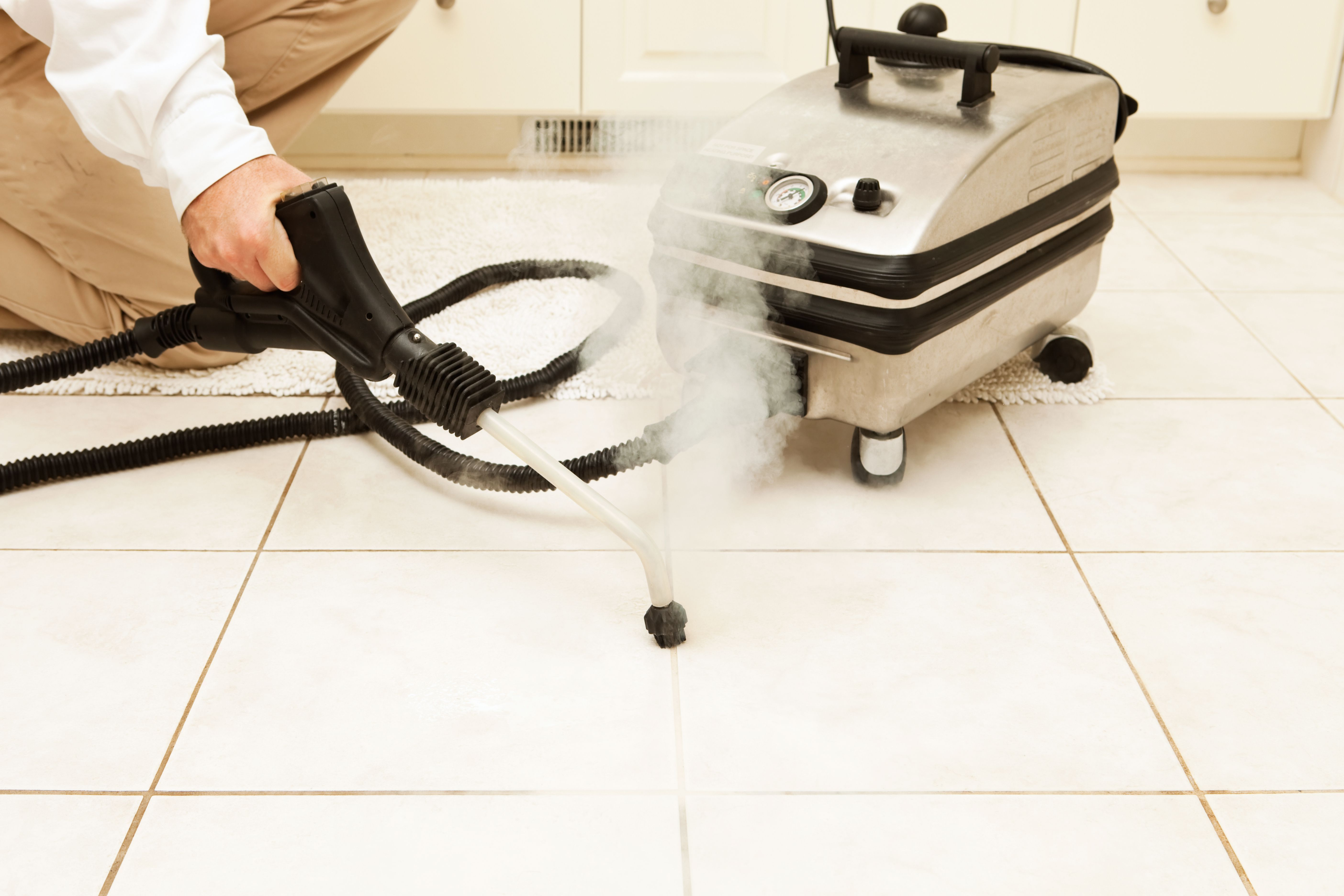 How To Renew Tile Grout The Easy Way With A Steam Cleaner In 2020 Grout Cleaner Clean Tile Grout Grout Cleaning Machine