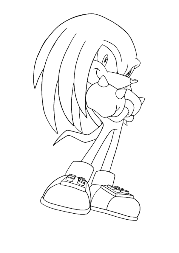 Knuckles The Echidna Sonic Coloring Page Sonic X Coloring Pages For Kids Coloring Pages Coloring Books Echidna