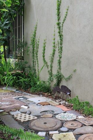 Recycled Materials Repurposed Concrete, Garden Path Coverings