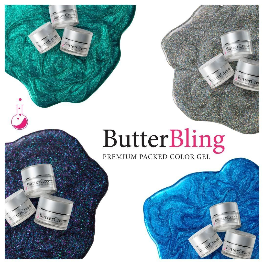 As promised, one more huge reveal from #LightElegance today! Meet #LightElegance ButterBlings.  LE ButterBlings feature the same buttery application you've come to love from ButterCream—now infused with an absurd amount of added bling unlike anything your clients have worn!  4 new luxurious shades that apply the same—but shine insane—are available November 15th everywhere you can find Light Elegance.  Watch for the big reveal videos on IG, YouTube and Facebook to see ButterBlings in action!  #Li #howtoapplybling