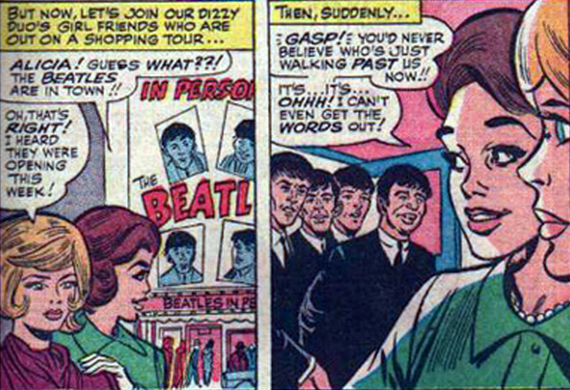 The Beatles in Strange Tales #130, 1965 | Vintage comics, Comic ...