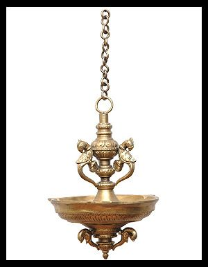 Hanging Peacock Deepa Lamp Hanging Lamp Indian Lamps Brass Decor
