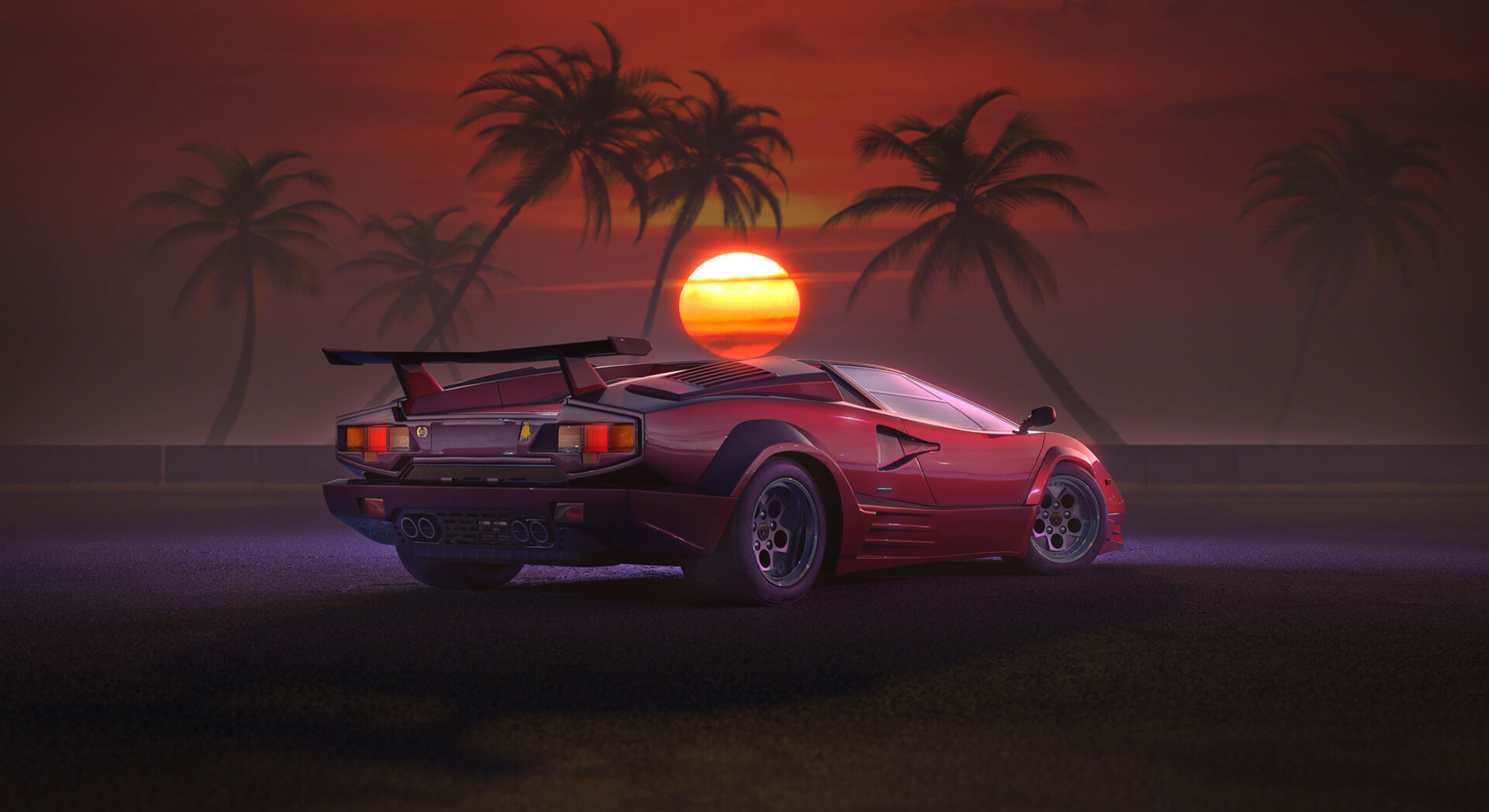 Lamborghini Countach 1920x1080 Lamborghini Countach Lamborghini Red Car