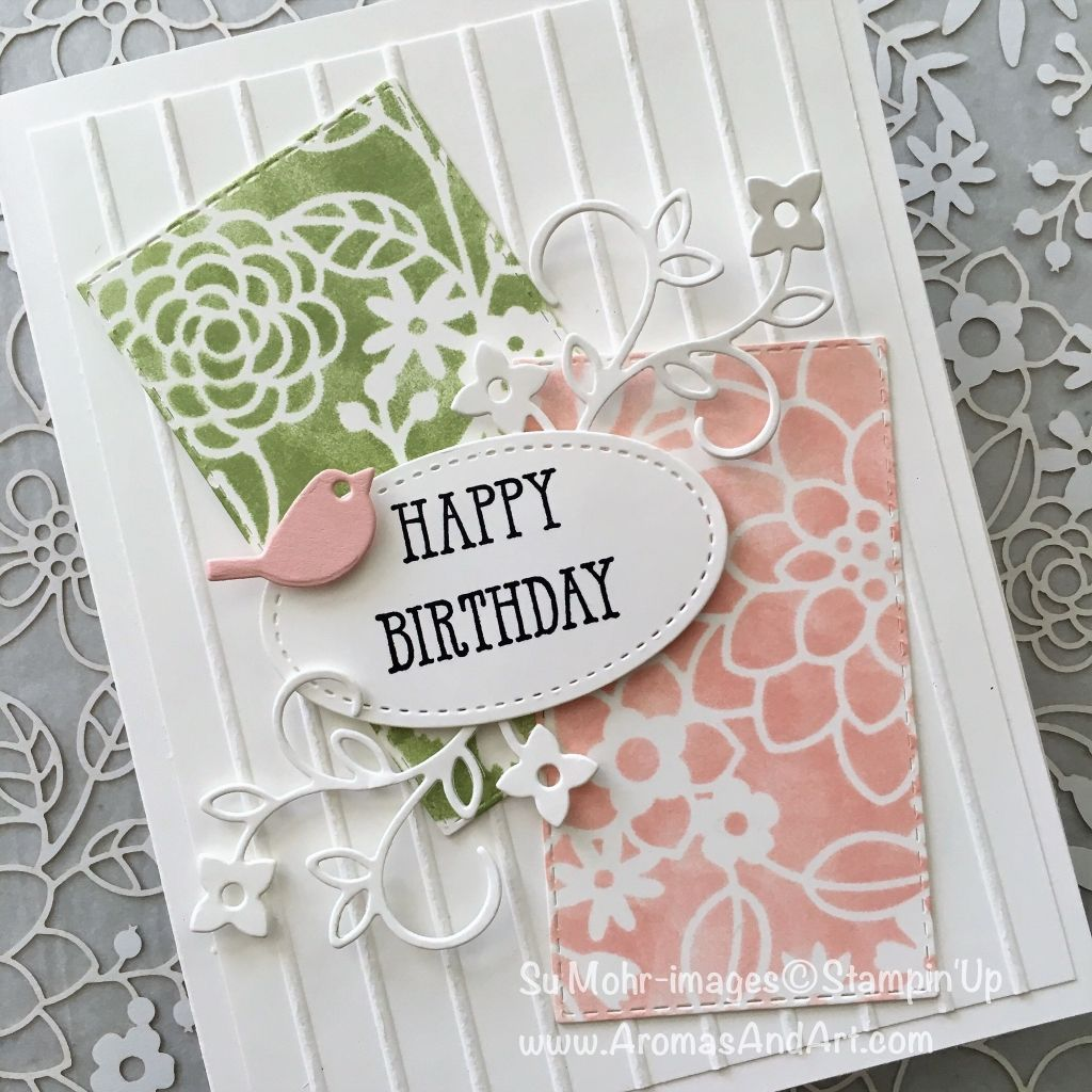 Stenciling Technique With Well Said Bundle Stencils Birthday
