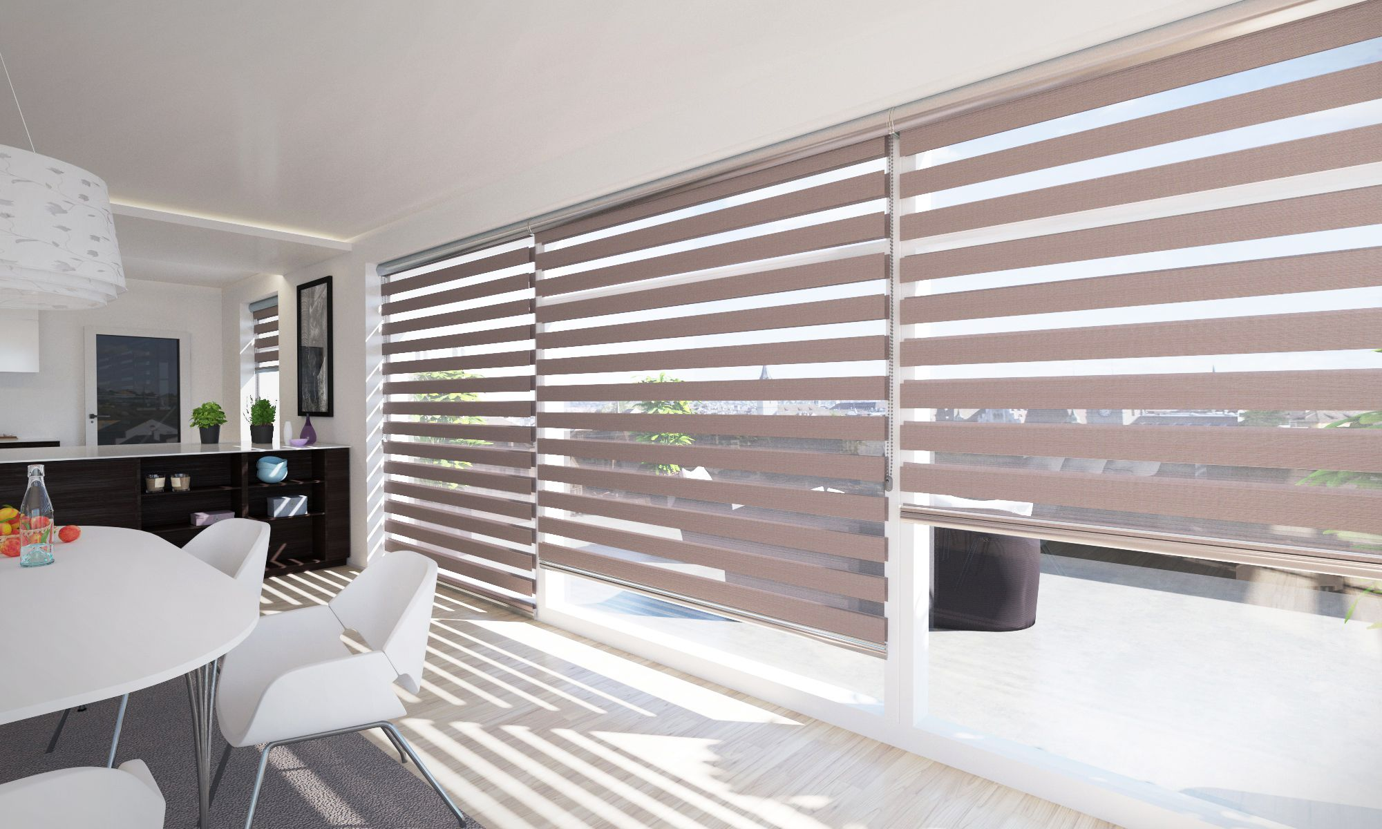 Have Large Windows In Your Living Room Or In Your Kitchen And Don T Know Blinds For Windows Living Rooms Large Windows Living Room Blinds For Large Windows