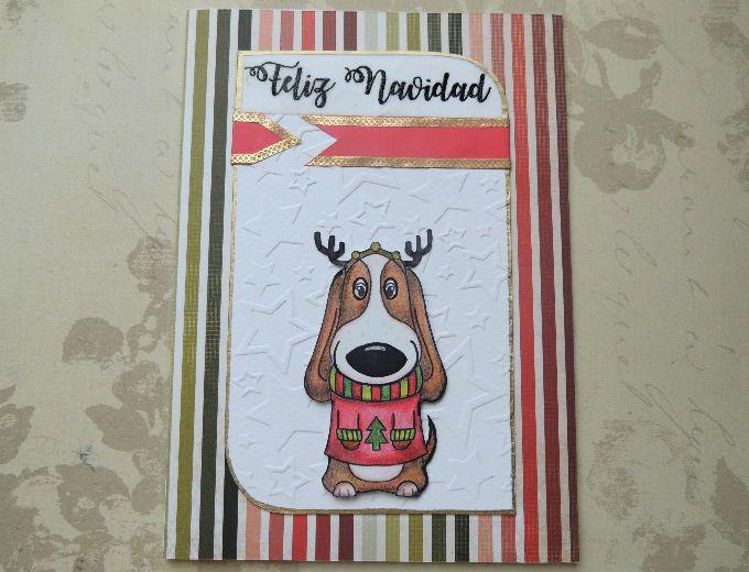 Tarjeta Tommy navideño, tarjetas artesanales, tarejtas hechas a mano, tarjetas para toda ocasión