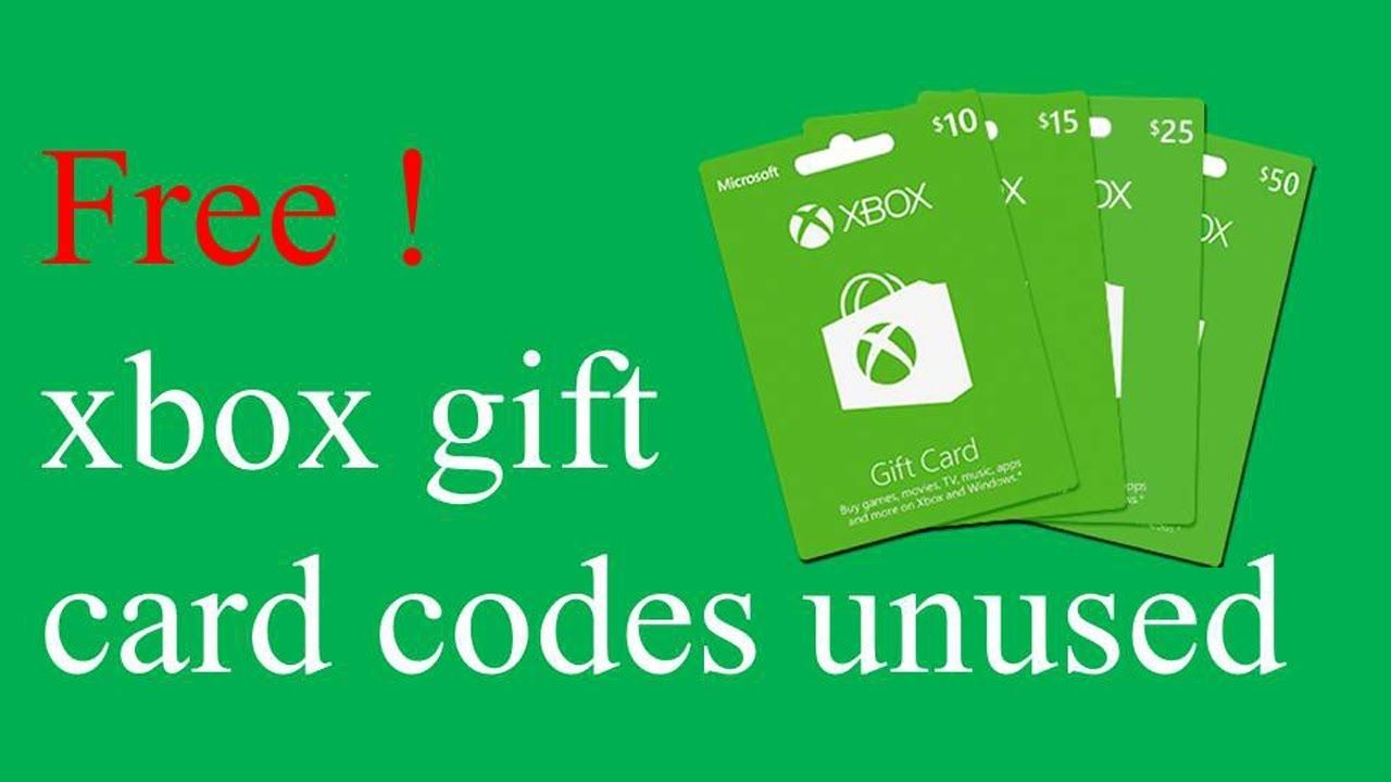 Free Xbox Live Codes That Haven T Been Used New 2019 Xbox Gifts
