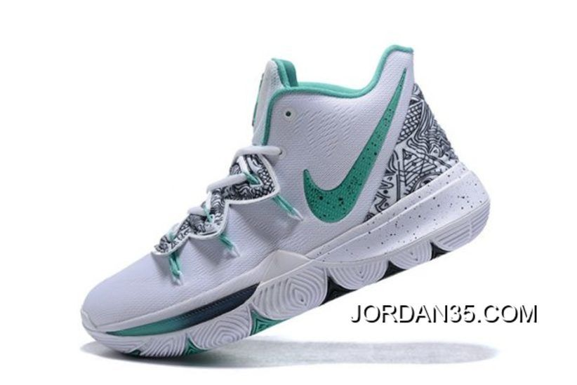 "b5b2faacdd61 Authentic Nike Kyrie 5 ""Unveiled"" PE White Mint Green-Black in 2019 ..."