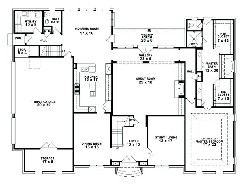 Low Cost Simple 5 Bedroom House Plans Google Search In 2020 4 Bedroom House Designs Unique Floor Plans Open Floor House Plans