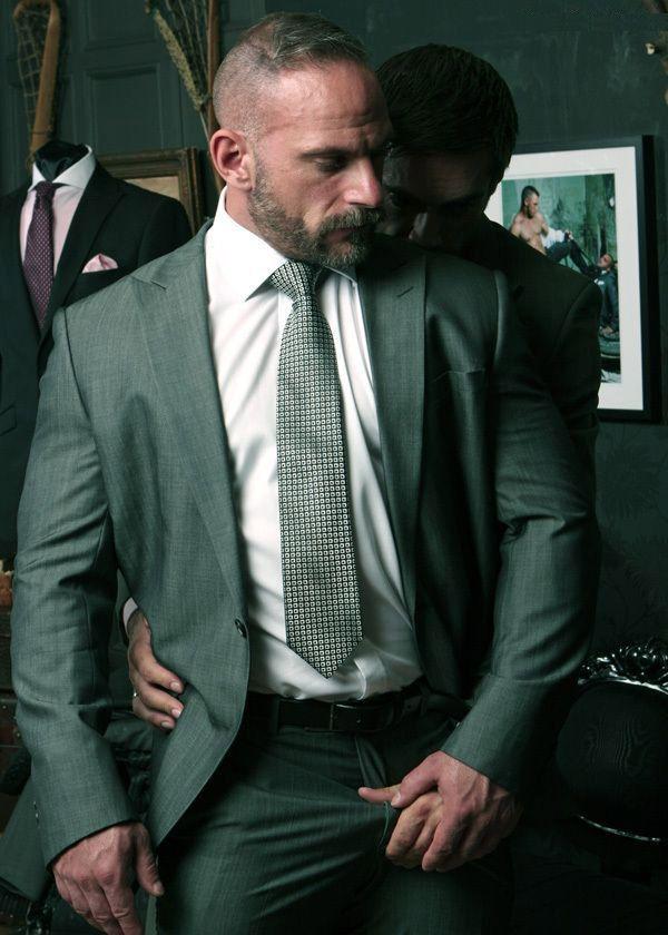 Hot gay men in suits