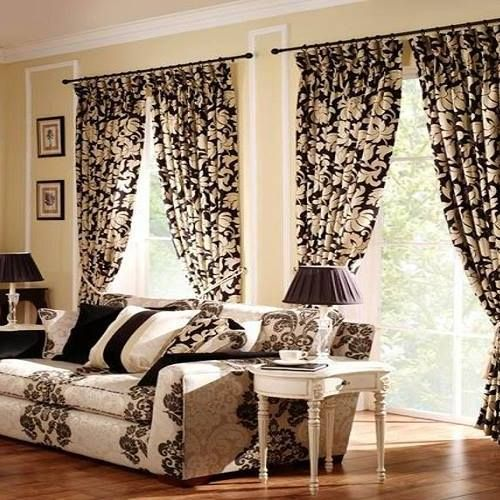 Best Modern Curtain Designs 2016 Ideas Colors Gold Sparkling Pattern For Windows Treatment