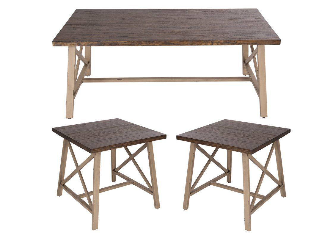 Burnley 3 piece coffee table set 3 piece coffee table