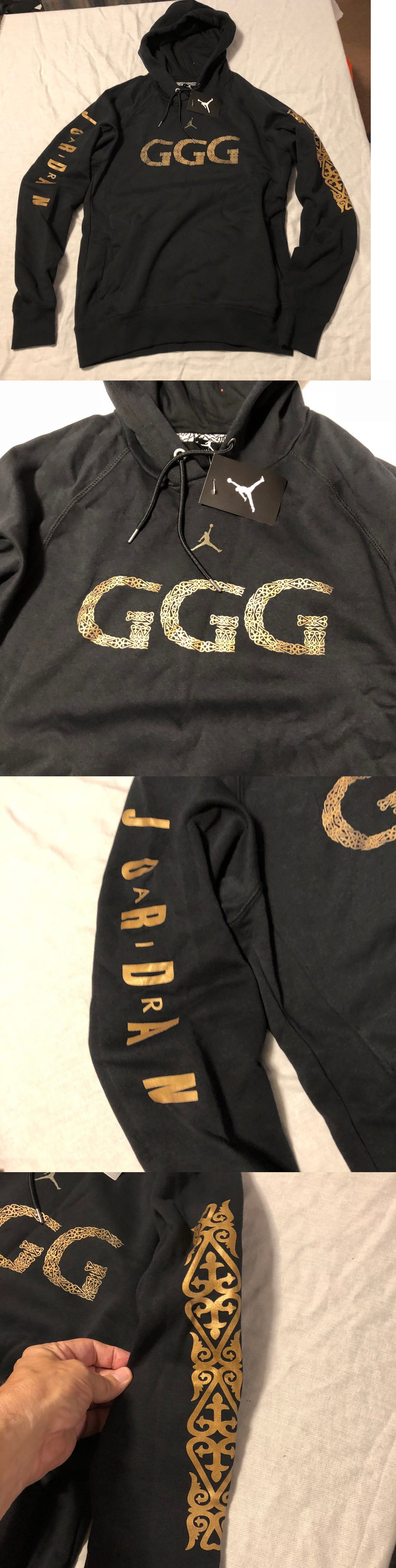 5c4832c25694 Hoodies and Sweatshirts 155183  Nike Jordan Ggg Gennady Golovkin Hoodie  Black Gold Rare Size M Aq8822 010 -  BUY IT NOW ONLY   99.99 on eBay!